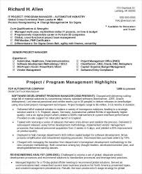 It Manager Resume Examples by Free Manager Resume Templates 40 Free Word Pdf Documents