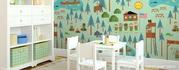 wall cartoon characters or animals mural painting for the
