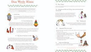hindu wedding program stefan kiehn designs