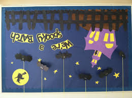 halloween bulletin board bat witch ghost halloween preschool