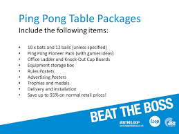 10 rules of table tennis loop at work bringing table tennis into the workplace ppt download