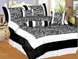 and white zebra bedding
