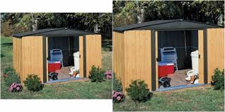 outdoor storage shed wood trash bin cabinet organizer backyard