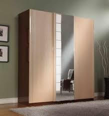 Wooden Closet Door Closet Storage Sleek Wooden Closet Ideas With Mirrored Sliding