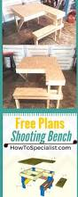 Free Plans For Outdoor Picnic Tables by Best 25 Shooting Bench Ideas On Pinterest Shooting Table