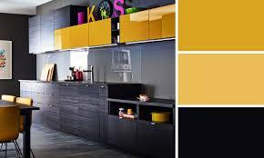 cuisine noir et jaune photo cuisine et jaune idée de modèle de cuisine