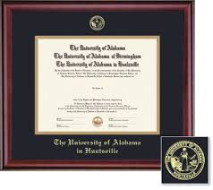 of alabama diploma frame uahuntsville bookstore framing success classic matted