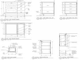 Kitchen Drawings Kitchen Cabinet Section Detail Drawing Monsterlune