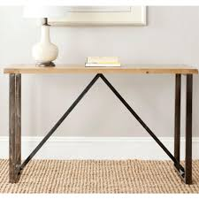 safavieh chase natural console table amh4128a the home depot safavieh chase natural console table