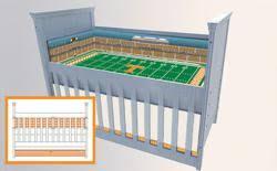 Sport Crib Bedding Stadium Cribs Launches Two New Custom Baby Bedding Sets