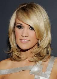 medium length wavy layered hairstyles medium length layered hairstyles with bangs blonde layers medium