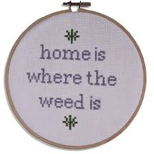 home is where the is cross stitch a shop of things