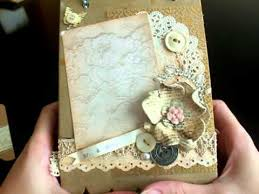 Vintage Wedding Album Vintage Wedding Album Mini Junk Journal And Father U0027s Day Card