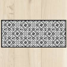tapis de cuisine au metre tapis cuisine carreaux black