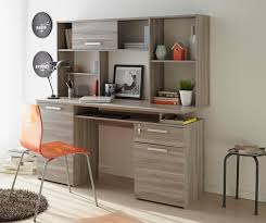 perseo modern study desk in silex oak wood effect finish with top