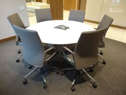 Back Painted Glass Conference Table Prismatique Back Painted Glass Drum Base Conference Table With