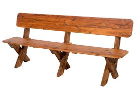 long wooden bench with back bench decoration