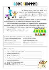 a short reading comprehension using the present simple tense to