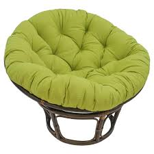 Leather Papasan Cushion by Blazing Needles 78 X 58 In Oversize Double Papasan Solid Twill