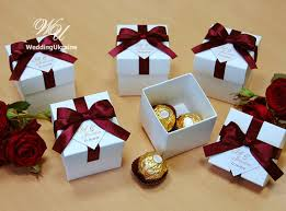 Cheap Wedding Guest Gifts Elegant Wedding Bonbonniere Wedding Favor Boxes By Weddingukraine