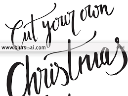 cut your own christmas tree printable sign featuring a red car