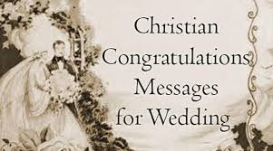 christian congratulations messages for wedding