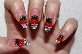 chocolate dipped strawberries nail art youtube