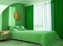 Unique Headboard Lush Green Bedroom Ideas With High Windows And Unique Headboard