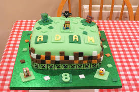 my son also got a minecraft cake yesterday my wife did a great