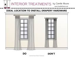 How To Measure For Grommet Curtains Best 25 Hanging Curtain Rods Ideas On Pinterest How To Hang