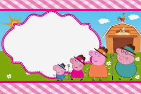 peppa pig en la granja invitaciones para imprimir gratis peppa