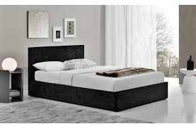 Velvet Bed Frame Buy Birlea Berlin Ottoman Black Crushed Velvet Bed Frame