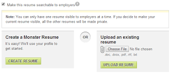 getting abroad for work cv settings in monster com location and