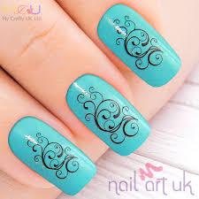 abstract water decal nail stickers nail art uk