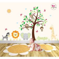 safari fabric nursery wall stickers safari wall stickers