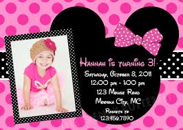 template sophisticated minnie mouse first birthday invitations