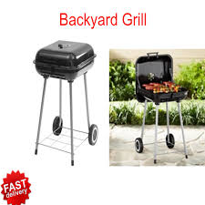 bbq charcoal grill black portable backyard outdoor grilling