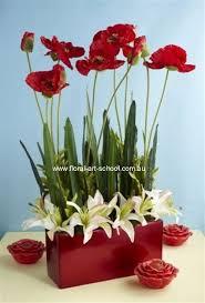 modern silk flower arrangement floral arrangement white lilies