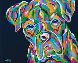boxer dog art seriously abstract boxer dog art print by angela alexander on