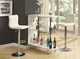 Wine Bar Table Bar Table And Bar Stool Chair With Wine Storage By Coaster 101064