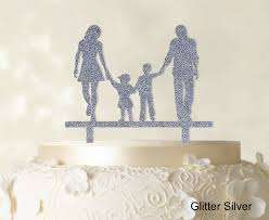 wedding cake accessories wedding cake topper with children family silhouette cake topper