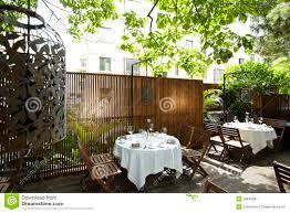 the beautiful garden restaurant royalty free stock photography