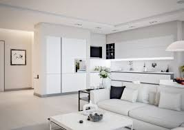 Small One Bedroom Apartment Ideas Small Apartment Design For Couples With White Color Scheme Ideas