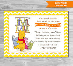 instead of a card bring a book baby shower book instead of card winnie the pooh baby shower book insert