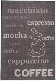 teppich k che teppich k che viereckig k chenteppiche muster kaffee in grau