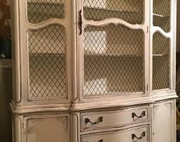 country hutch in our antique paris white finish