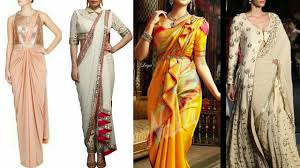 saree draping new styles different styles of saree draping fashion 2017 youtube