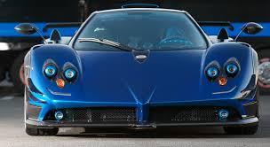 pagani zonda blue carbon pagani zonda roadster f 1 1 cars