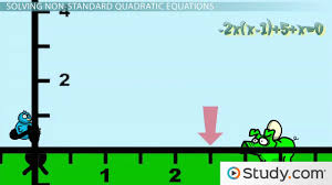 how to solve quadratics that are not in standard form video