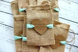 burlap wedding favor bags items similar to burlap favor bags ribbon or jute personalized